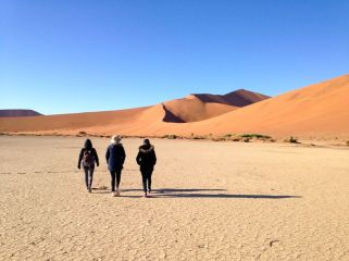 Ready to climb the Namib's higest dune...
