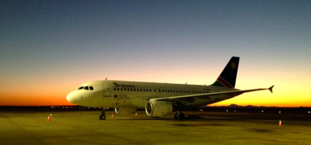 There were a lot of plane rides, but favourite landing was the stunning evening sky when landing in Windhoek.