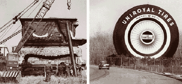 Moving and re-building the Uniroyal Tire in 1966