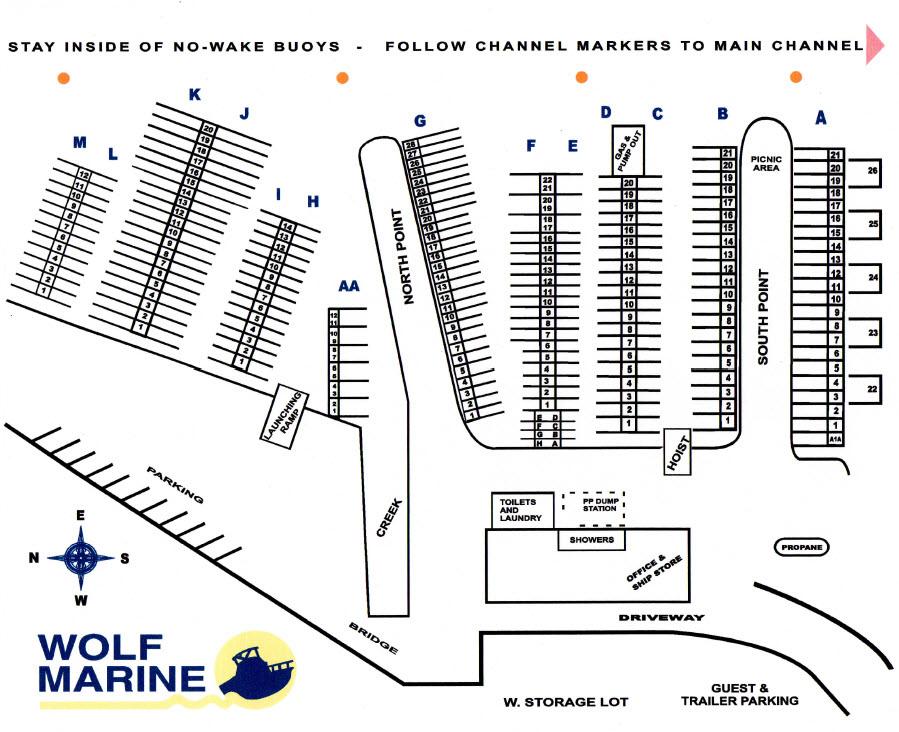 Wolf Marine Boat Slip LayoutWolf Marine