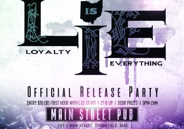 Video Flyer – L.I.E. Release Party