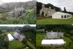 wolford lodge marquee and arial