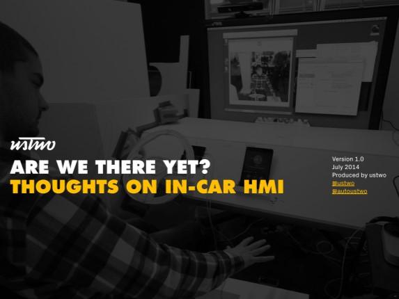 ustwo: eBook on in-car HMI design