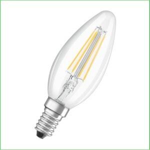 Kaarslamp E14 helder