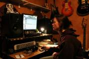 Mer at work in the Studio