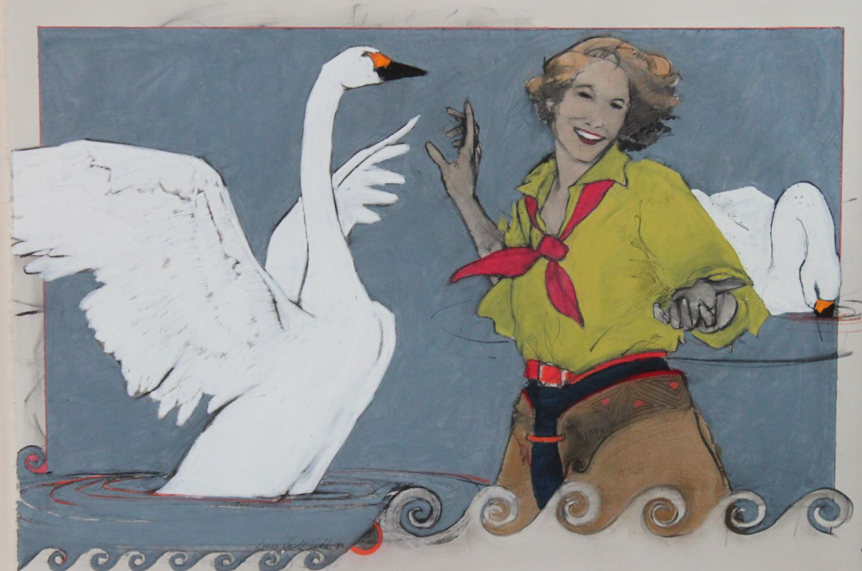 Donna HowellSickles  Leda and The Swan  1992