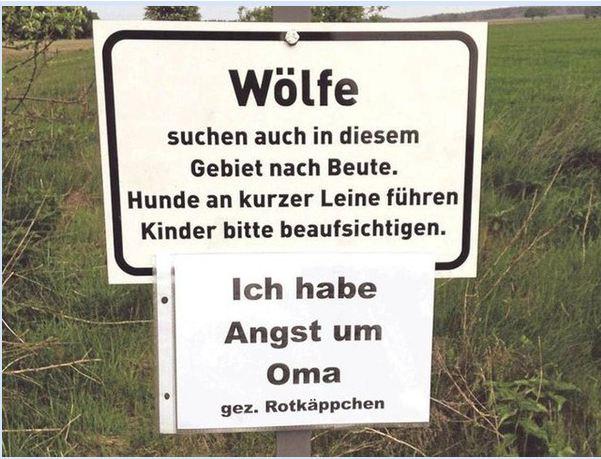 Rotkäppchens Kommentar (Quelle: lachschon.de)