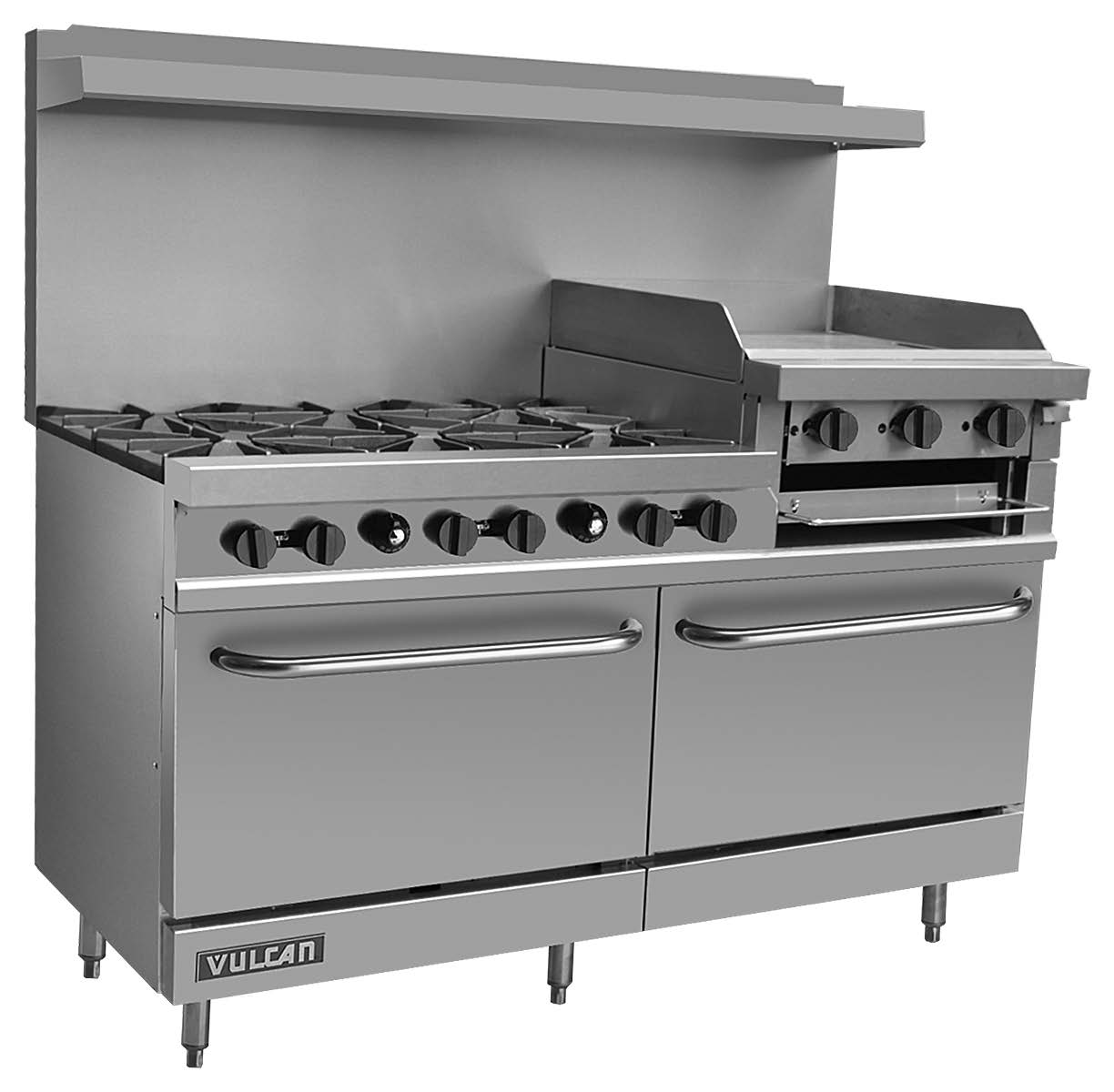 vulcan kitchen equipment professional oven wolf and economy value series ranges v260