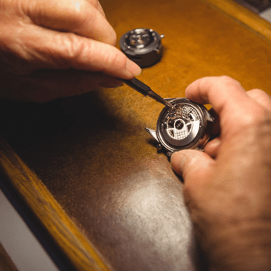Titanium is used to make jewelry details, including cases and housings for watches
