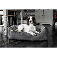 Premium Collection Faux Suede Dog Bed Large - Wolfybeds