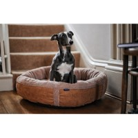 Caramel Fleece Luxury Dog Bed Medium - Wolfybeds