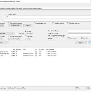 grepWin ile dosyaların içeriğini aramak