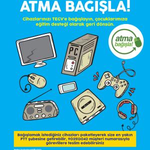 Eski elektronik cihazlarınızı ücretsiz TEGV'e gönderin