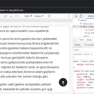 """Yalnızca CSS ile yumuşak """"Başa Dön/Back to Top"""" kaydırma"""