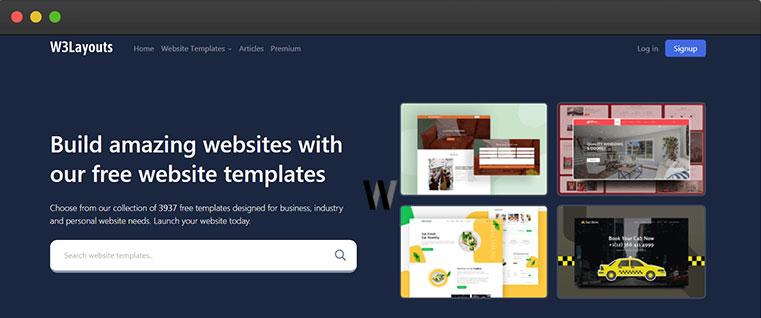 Ücretsiz indirilebilen yüzlerce web sitesi şablonları