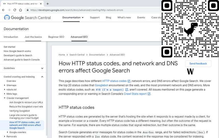 HTTP durum kodları ile ağ ve DNS hataları Google Arama'yı nasıl etkiler?