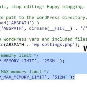 WordPress bellek ayarları