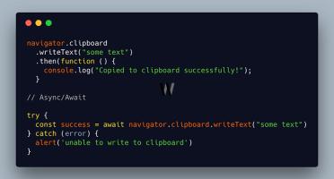 Javascript Clipboard
