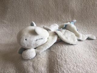 Kuschel-Drache weiß - verkauf - zum lieb haben - Wolken Sternchen