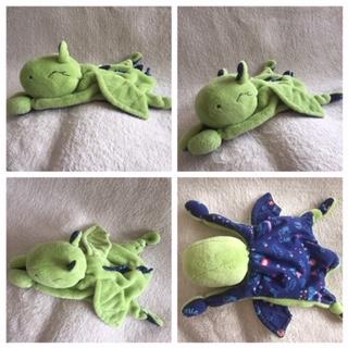 Kuschel-Drache grün-blau - verkauf - zum lieb haben - Wolken Sternchen