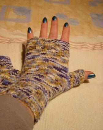 einfach halbe Handschuhe
