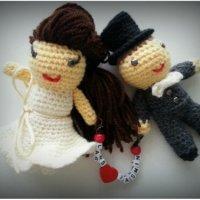 Zur Hochzeit - gehäkeltes Brautpaar