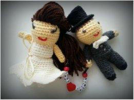 Gehäkeltes Brautpaar