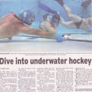 Dive into Underwater Hockey [The Advertiser Wollongong]