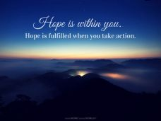 Hope is within you. Hope is fulfilled when you take action (Good WORD Spread WORLD, excerpt from Pastor Jeong Myeong Seok's sermons)