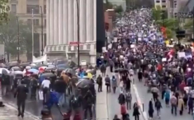 Protest w Kanadzie Covid