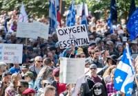 protesty w Kanadzie Covid