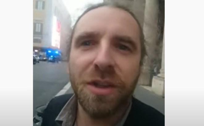 Dobromir Sośnierz w Rzymie