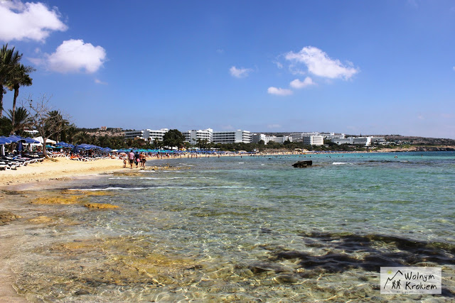 Ayia Napa plaża Pantachou Beach Cypr