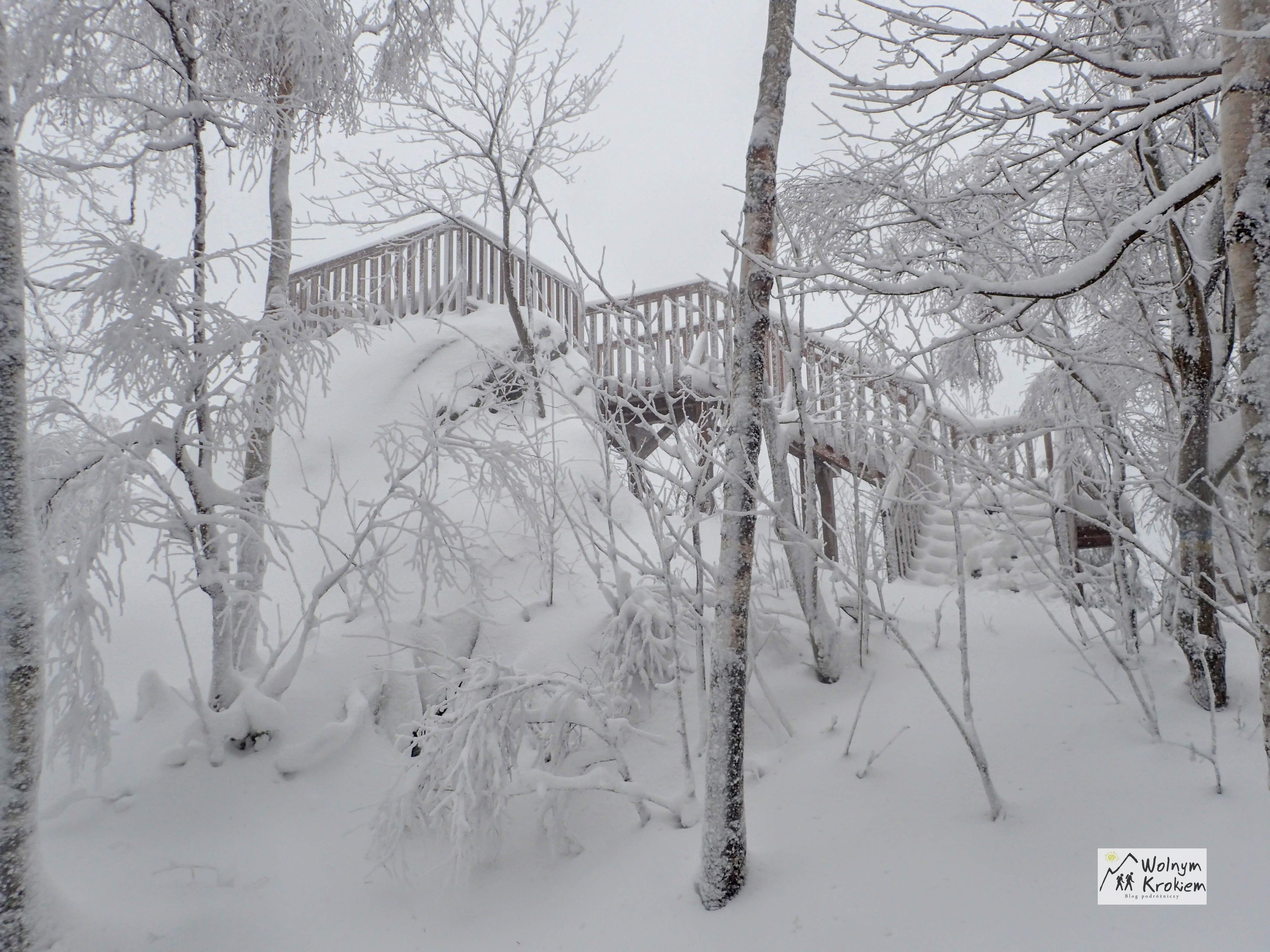 Punkt widokowy Okole zimą
