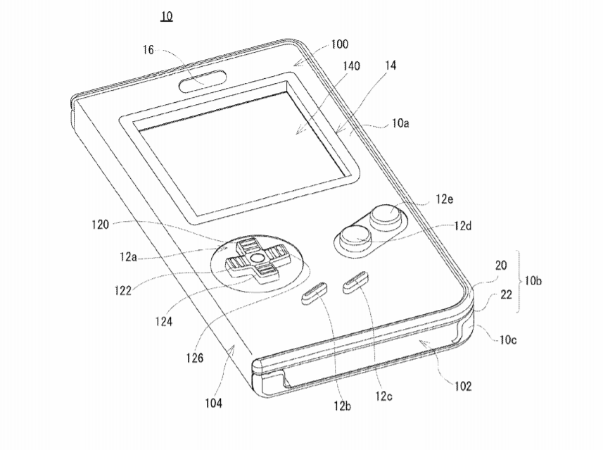 Nintendo patents a Game Boy smartphone case with physical