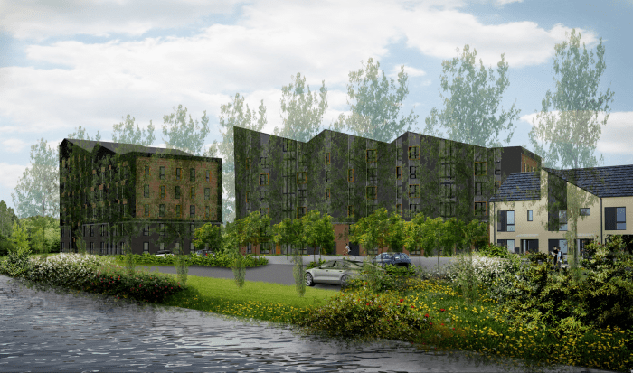 Artist's impression of apartments