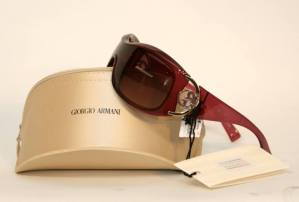 015460   Giorgio Armani Burgundy Wrap Sunglasses   01