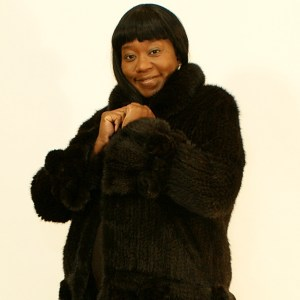 Ladies Knitted Mink Jacket 014914