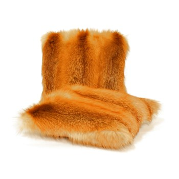 Red Fox Fur Pillow
