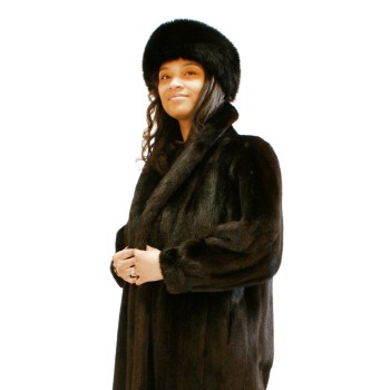 Ranch Mink Coat Raglan Slvs, Sz. 10
