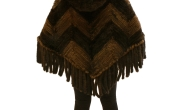 2 Tone Knitted Mink Poncho