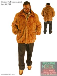 Mink Bomber Jacket. Man's 3XL. Previously owned. -wolverinefurs-877-387-4111