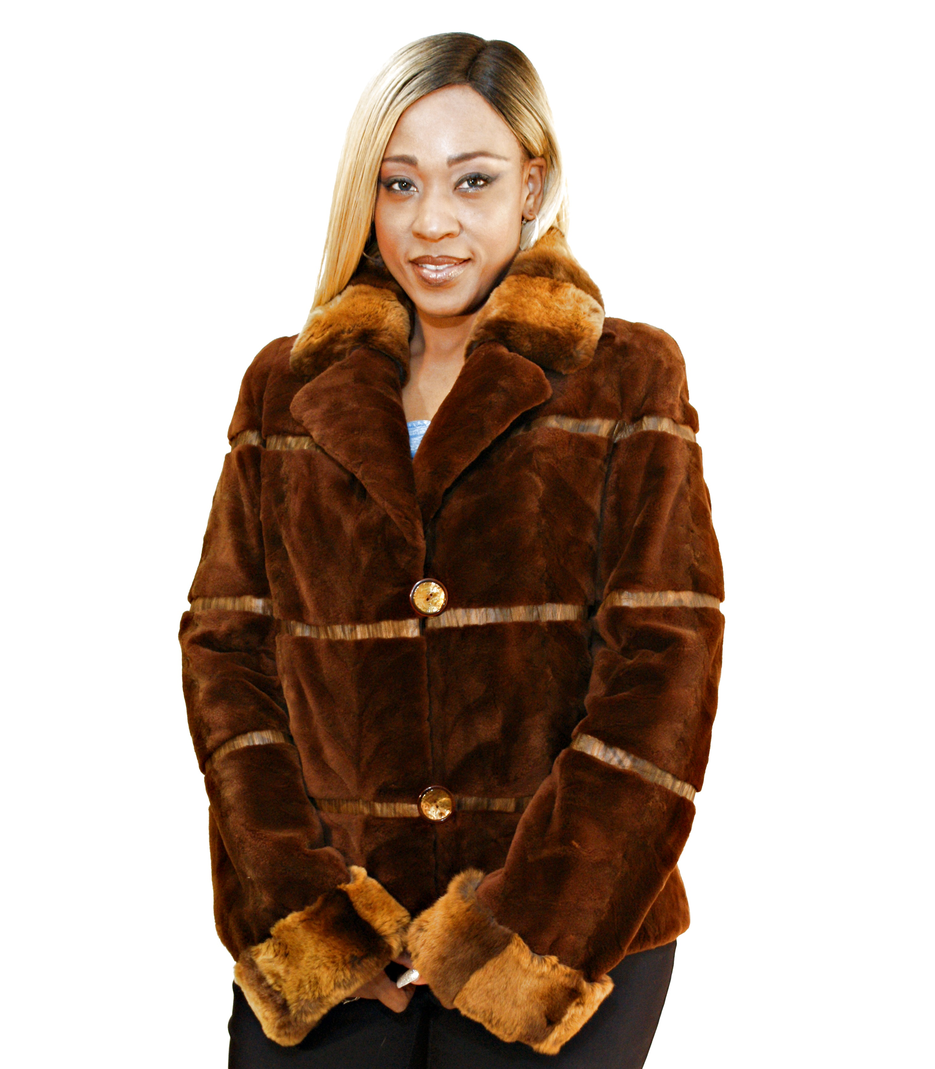 Reversible Sheared Mink To Rainsilk Jacket - Wolverine Furs
