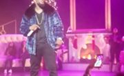 r kelly singer performer blue mink bomber jacket
