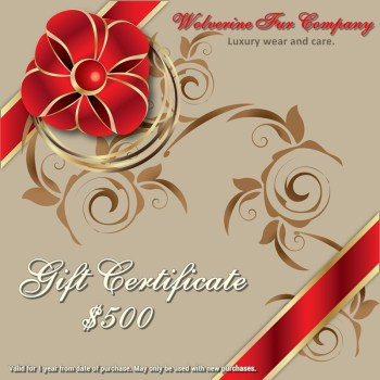 gift certificate for wolverine fur company