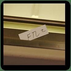 Amtrakの降車駅名札