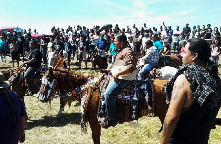 Sacred Stone Camp has several thousand people in residence and they intend to stay – Standing Rock, North Dakota