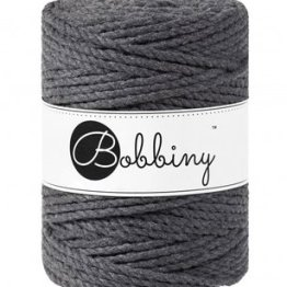 Bobbiny triple twist 5mm Wolzolder Charcoal