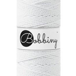 Bobbiny macrame triple twist 3 mm wolzolder White