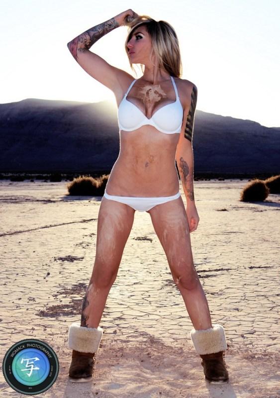 Jen A at Dry Lake Bed